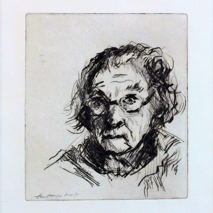 autoportrait (pointe sèche)