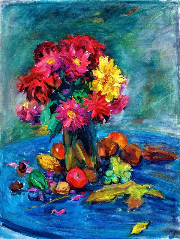fleurs (huile)