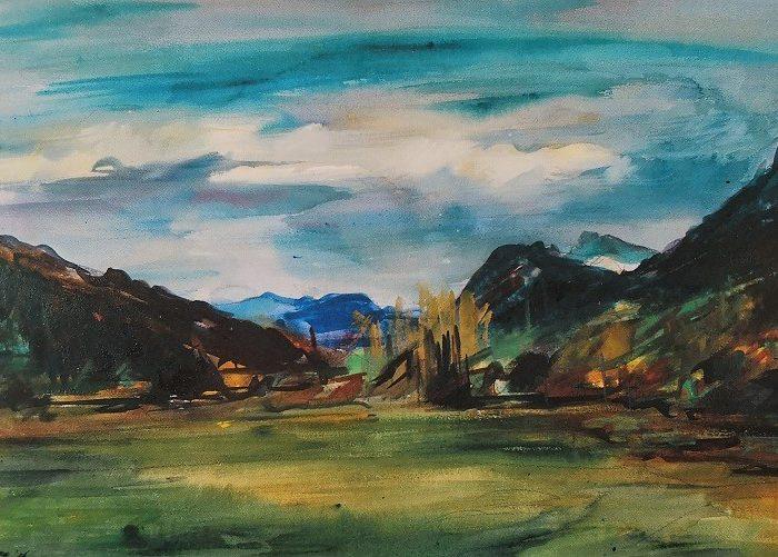 Vue du Vercors (aquarelle)