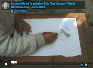 Le modèle et le peintre Bob Ten Hoope