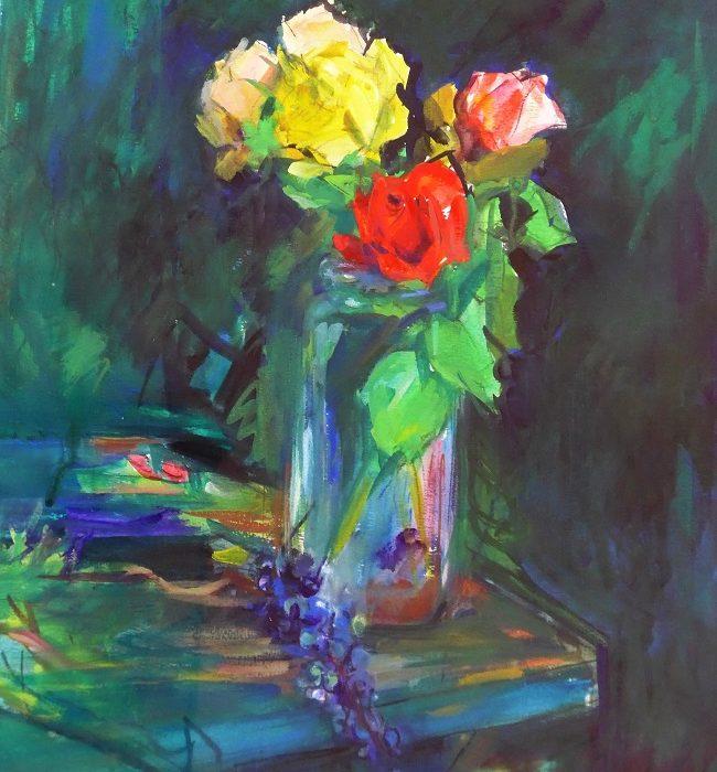 Roses & raisins (Aquarelle)