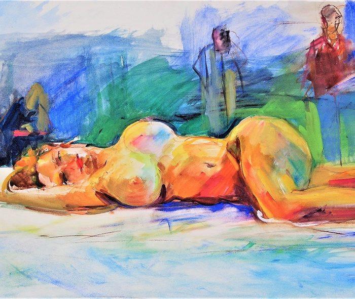 nu couché (aquarelle) 2