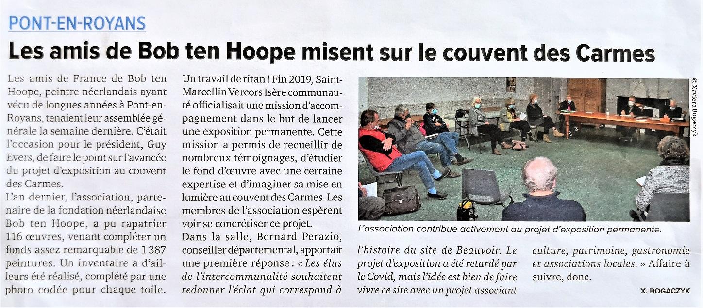 Article du Mémo de l'Isère du 23 octobre 2020